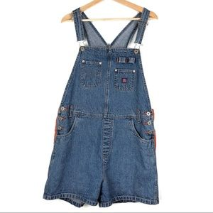 Vintage BUM EQUIPMENT shortalls Large denim b504